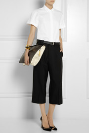 Victoria Beckham Cotton-blend twill shirt