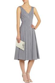 Michael KorsGingham stretch cotton-blend dress