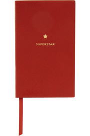 Smythson Superstar textured-leather notebook