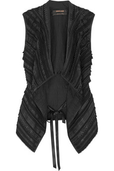Roberto Cavalli Fringed leather gilet