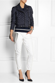 Burberry Brit Quilted shell biker jacket