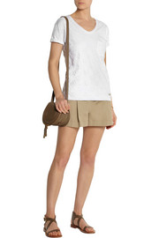Burberry Brit Broderie anglaise cotton-jersey T-shirt