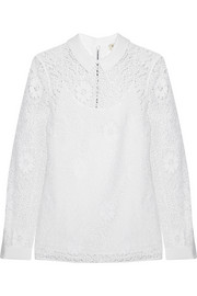 Burberry London Crocheted lace top