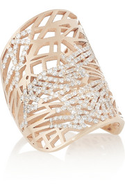 Repossi Art Nouveau 18-karat rose gold diamond ring