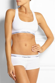Calvin Klein Underwear Modern stretch cotton-blend soft-cup bra