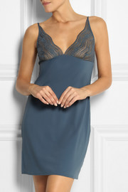 Calvin Klein Underwear Infinite lace and stretch-jersey chemise