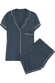 Structure stretch-jersey pajama set