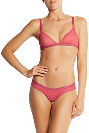 Calvin Klein Underwear Abstract stretch-tulle soft-cup triangle bra