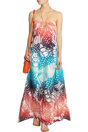 Diane von Furstenberg Annie printed washed-silk maxi dress
