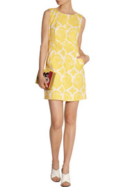 Diane von Furstenberg Carpreena floral-jacquard dress