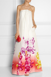 Diane von Furstenberg Annie printed silk maxi dress