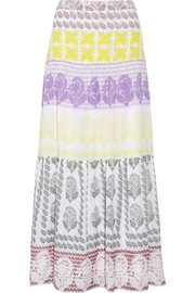 Diane von Furstenberg Marny printed cotton and silk maxi skirt