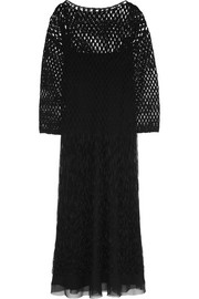 The Row Ida fringed macramé midi dress
