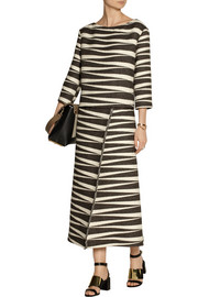 The Row Seco alpaca and cotton-blend jacquard dress