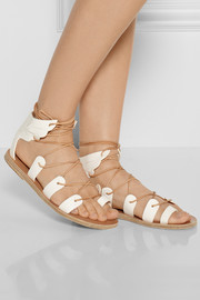 Ancient Greek Sandals Fteroti leather lace-up sandals