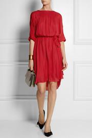 Étoile Isabel MarantZavia brushed-crepe dress