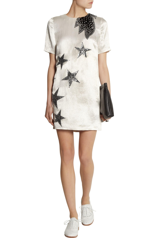 Marc by Marc Jacobs Cosmo Night star-appliquéd satin mini dress