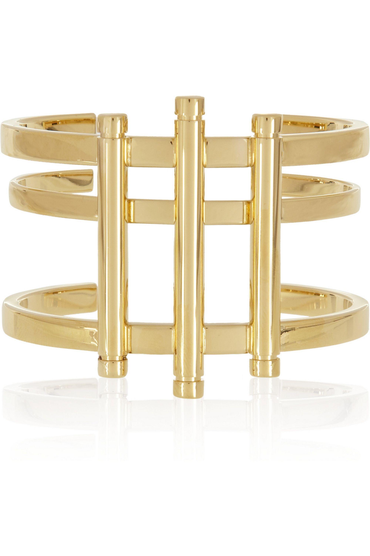 Chloé Gold-tone bar cuff
