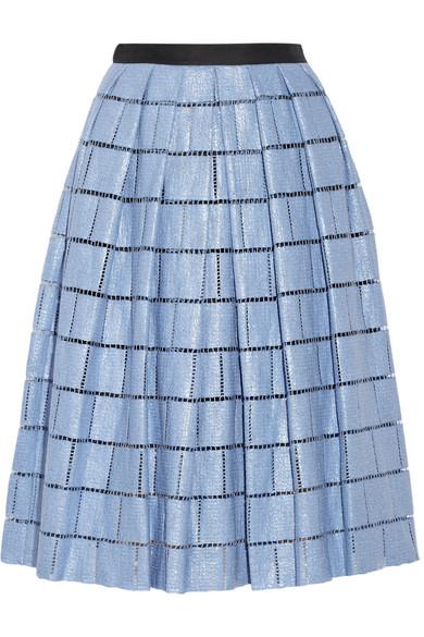 Sale alerts for Raffia-effect cotton-blend skirt Tibi - Covvet