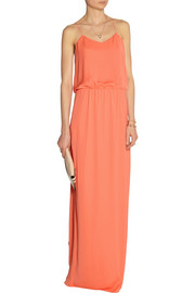 Tibi Draped washed-georgette maxi dress