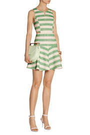 Tibi Striped cotton-blend dress
