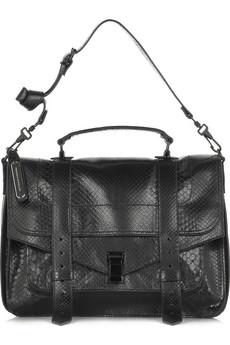 Proenza Schouler PS1 Large python satchel