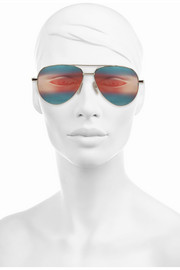 Cutler and Gross Aviator metal mirrored sunglasses