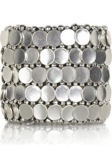 Philippe Audibert Silver disc bracelet