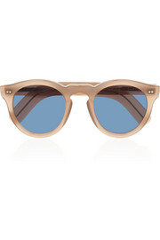 Cutler and Gross Round-frame acetate and metal sunglasses