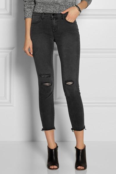 96fda1309fc J Brand. 8226 Photo Ready cropped mid-rise skinny jeans