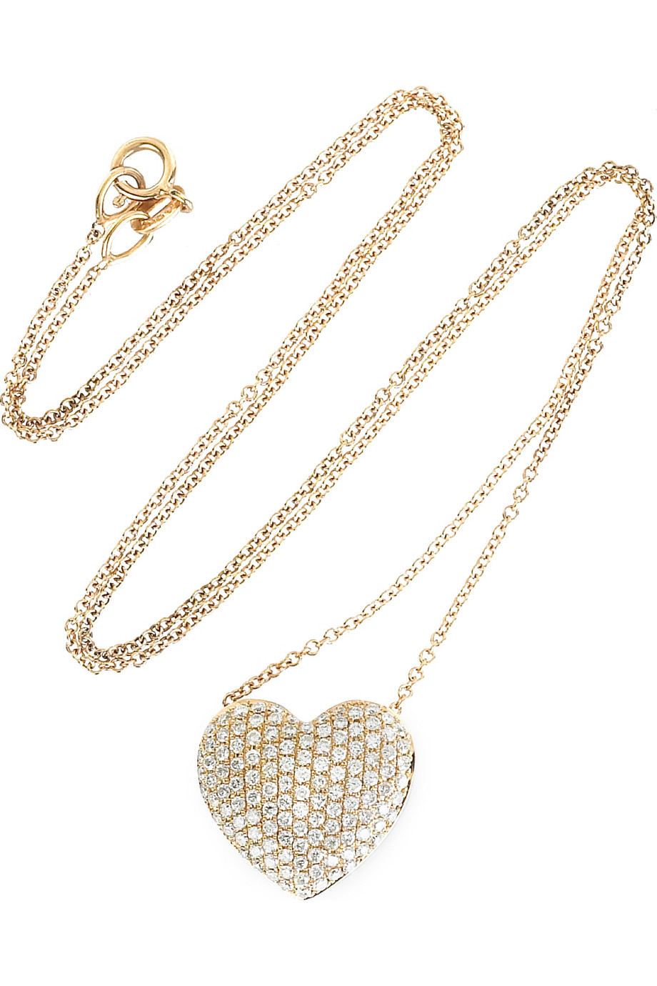 Anita Ko Diamond encrusted heart necklace | NET-A-PORTER.COM