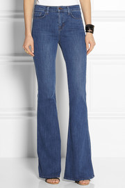 Valentina high-rise flared jeans