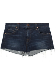 J Brand Tribute cut-off stretch-denim shorts