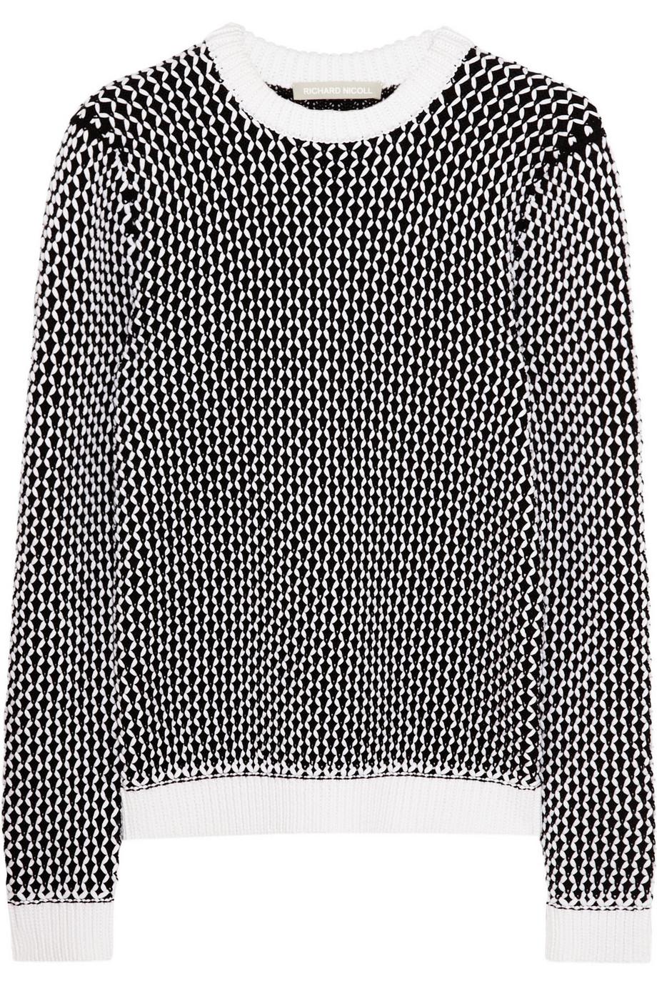 RICHARD NICOLL Chunky-knit cotton-blend sweater