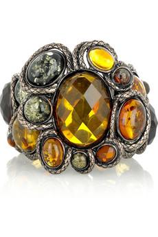 Bottega Veneta Amber gold-plated bracelet