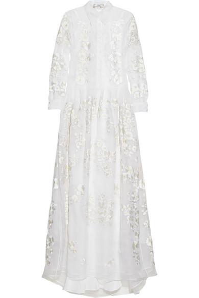 erdem lourdes embroidered silkorganza gown