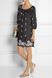 Collette by Collette DinniganEmbroidered washed-silk dress