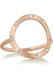 Brooke Gregson 14-karat rose gold diamond ring