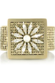 Chloé Crystal flower cuff