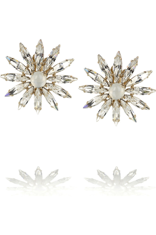 Chloé Crystal flower earrings