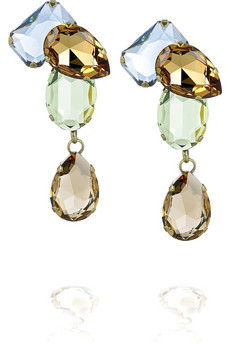 Lanvin Strass gem drop earrings