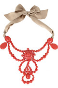 Lanvin Ribbon and gem necklace