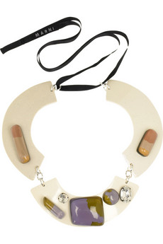 MarniHorn embellished neckpiece