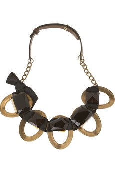 Marni Stone embellished metal necklace