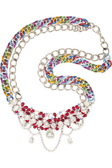 Matthew Williamson Double chain sparkling necklace