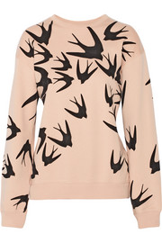 McQ Alexander McQueen Bird flocked cotton sweatshirt