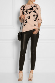 McQ Alexander McQueen Flocked cotton sweatshirt