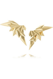 Maria Black Fine Jewelry 18-karat gold wing earrings