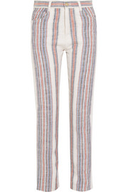 Chloé Striped cotton-blend straight-leg pants
