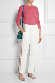 Chloé Pinstriped woven tapered pants